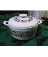 Royal Doulton Fireglow Medium Round White Handles Oven To Table Casserole - $59.97