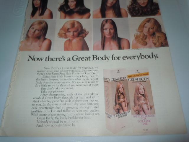 Vintage Clairol Great Body Shampoo Print Magazine Advertisement 1971