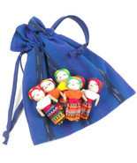 Worry Dolls - Handmade Set of 6 Guatemalan Trou... - $25.32