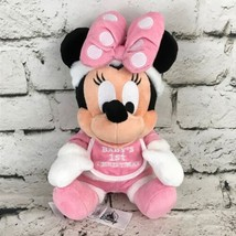 Disney Minnie Mouse Baby's First Christmas Plush Soft Sitting Stuffed Animal Toy - $24.74