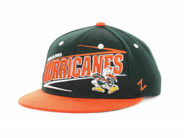 Miami Hurricanes Zephyr Original Snapback Snaz NCAA Logo Adjustable Cap Hat - $21.80