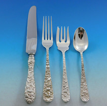 Rose by Stieff Sterling Silver Flatware Set For 12 Service 48 Pieces Rep... - $2,070.00