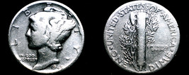 1945-P Mercury Dime Silver - $4.99