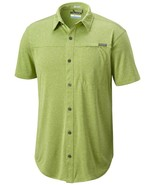NEW MENS COLUMBIA BATTLE RIDGE STRETCH KNIT SHORT SLEEVE BUTTON FRONT SH... - $24.74