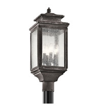Kichler 49506WZC Wiscombe Park Outdoor Post Light 9in Weathered Zinc - $594.99