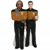 Star Trek: The Next Generation Worf and Data Salt & Pepper Shakers Set 2... - $26.11