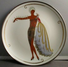 House of Erte Limited Edition Plate HD9948 Diva II - $24.75