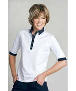 Stylish Women's Golf & Casual White Short Sleeve Collar Top, Swarovski B... - $29.95