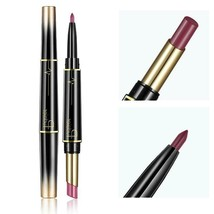 Lips Makeup Double Ended Lip Liner Matte Lipstick Pencil Professional Wa... - $4.99