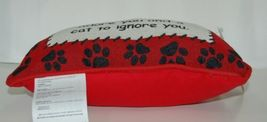 manual Woodworkers Weavers TWBLIF Cream Black Red Balanced Life Dog Cat Pillow image 5