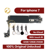 Original unlocked for iphone 7 Motherboard with Touch ID,Without Touch I... - $154.61+