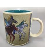 Laurel Burch Wine Things Painted Wild Horses Black Coffee Mug Cup 12 oz ... - $27.93