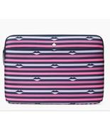 "Kate Spade 15"" Laptop Sleeve Case Nylon Jae Lip Print - $44.54"