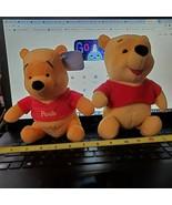 Winnie the Pooh Pair Disney with Tag Plush Stuffed Medium size Just Play... - $7.37