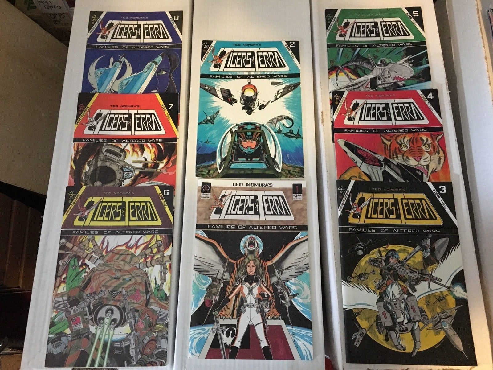 Tigers Of Terra Famlies Of Altered Wars 1-8 RUN VF/NM Ted Nomura's Mind-Vision