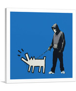 ARTCANVAS Choose Your Weapon Keith Haring Dog - Blue Canvas Art Print by... - $41.99+
