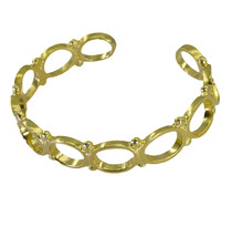 excellent Plain Gold Plated multi Bangle Glass normaly US - $13.16