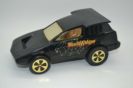 Mattel 1976 Power N Speed Shifter Vintage Black Widow Friction Racer Car - $19.99