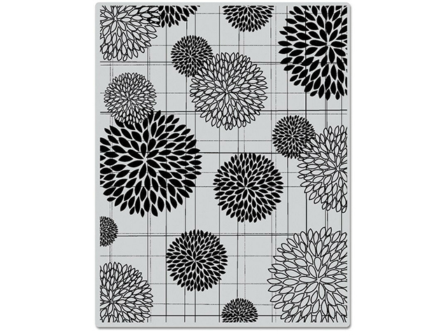 Hero Arts Flower Burst Patter Rubber Background Stamp #GS315