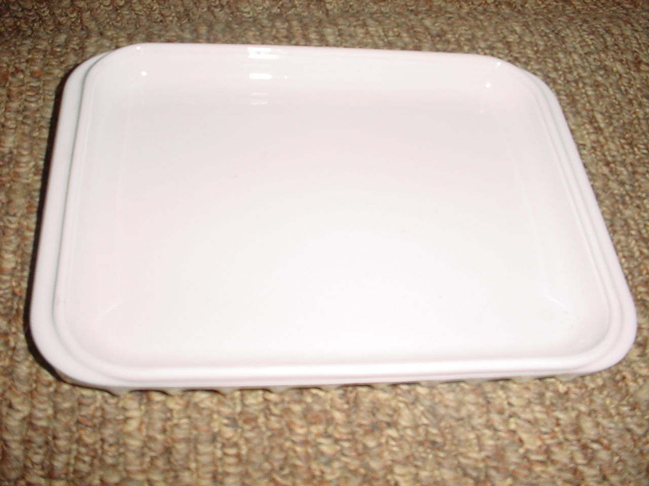 Primary image for CORNING WARE MR-1 WHITE MICROWAVE OVEN BROWNING RACK FREE USA SHIPPING