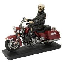 Skeleton Biker Statue Polyresin Figurine Home Decor - $36.62