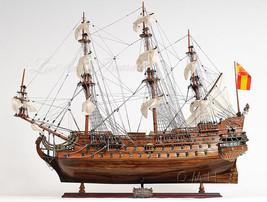 "San Felipe Tall Ship Wooden Model SailBoat Boat Fully Assembled 28"" New ... - $559.95"