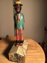 Vintage 1920's UNIQUE ART JIM DANDY CLOWN DANCER JIGGER TIN WIND UP TOY ... - $350.61