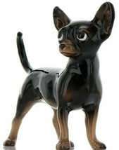 Hagen Renaker Pedigree Dog Chihuahua Large Black and Tan Ceramic Figurine image 1