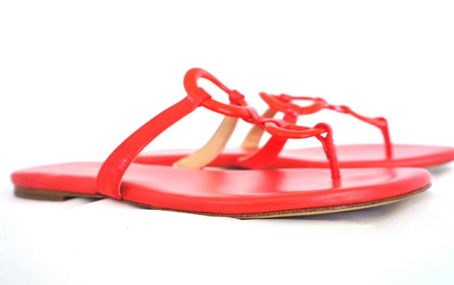 65f4f55935f 57. 57. Previous. Michael Kors MK Claudia Women Footwear Shoes Flat Thong  Sandals Coral Red 5.5
