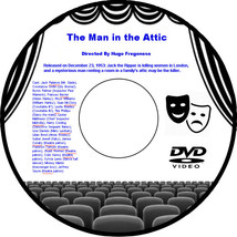 The Man in the Attic 1953 DVD Film Mystery Jack Palance Constance Smith ... - $3.99