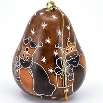 Handcrafted Carved Gourd 3 Kings Nativity Gifts Christmas Ornament Made in Peru image 4