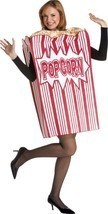 Popcorn Adult Men Women Movie Costume Food Snack Halloween Unique GC7159 - €57,40 EUR