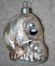 """Polar Bear Handblown Glass Christmas Ornament 4"""" Holiday Bears  - $14.80"""