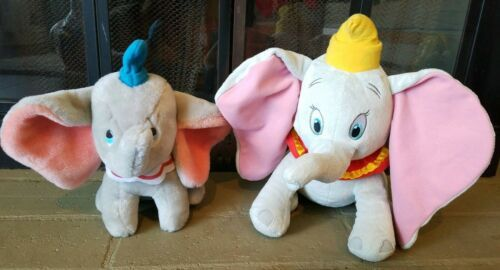 2 Disney Dumbo Plush And Large Ceramic Baby Delivery Stork Scene Animated Magic