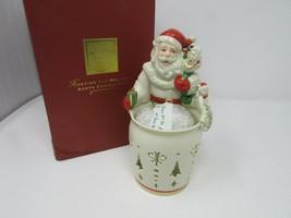 VTG LENOX CHINA HOSTING THE HOLIDAYS SANTA CANDLE HUG NEW IN BOX - $28.66