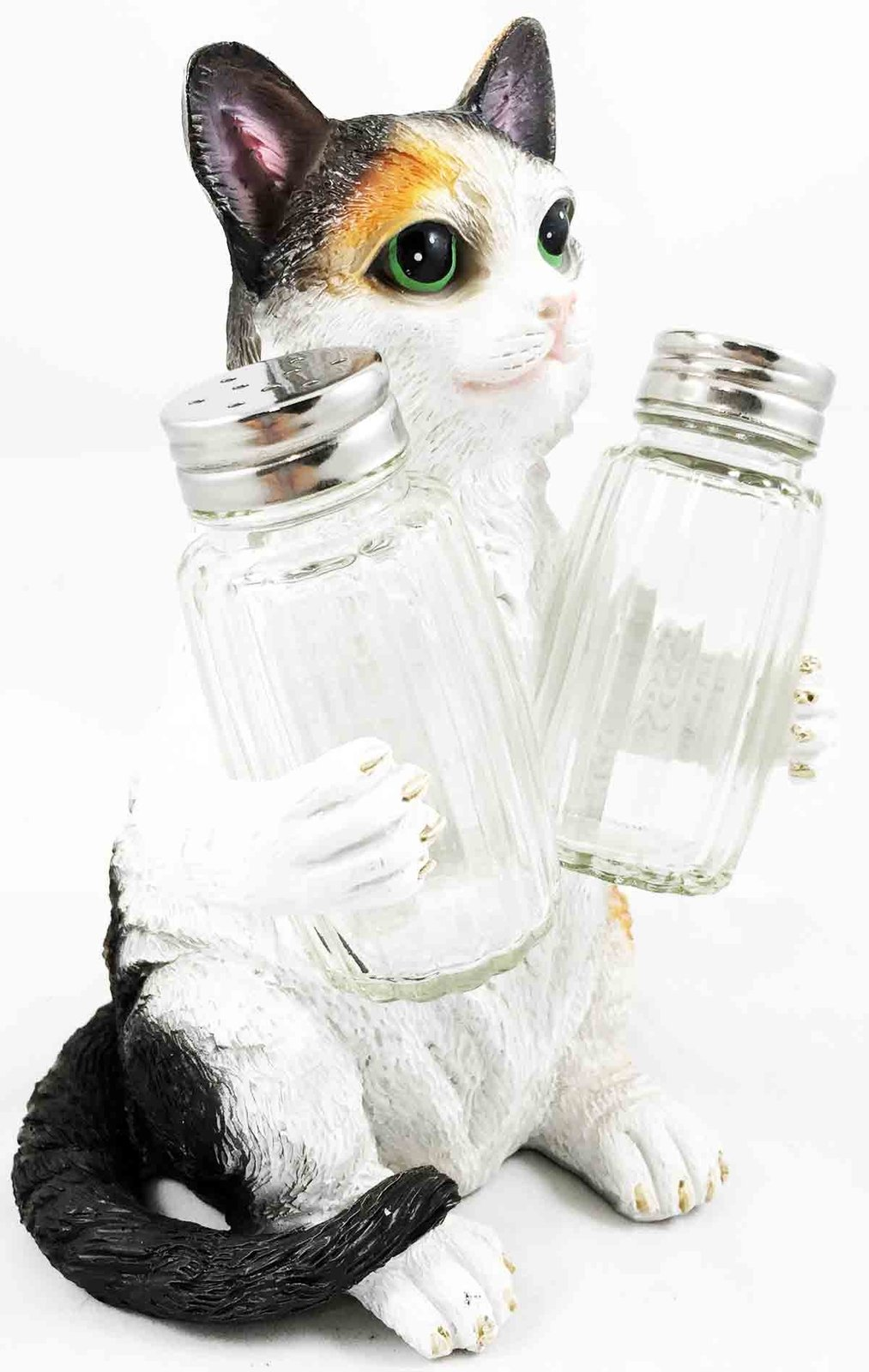 American Favorite Pet Playful Calico Cute Kitty Cat Figurine Salt Pepper Shakers