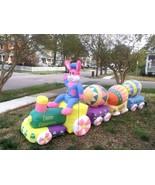 13' Easter Bunny EGG Train Lighted AIR Blown Inflatable Yard Decor - $165.94