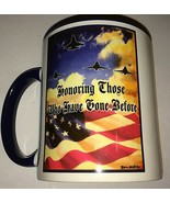 Military Coffee Mug Cup Honoring Those Who Have Gone Before USAF USA Fla... - $12.85