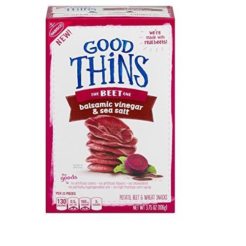 Good Thins: The Beet One - Balsamic Vinegar & Sea Salt Crackers, 3.75 Ounce