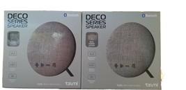 2 Wireless Bluetooth Speaker Gray 4.2 Tzumi Small Deco Series HiFi 3hrs ... - $21.65 CAD