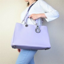 Christian Dior Limited Edition Large Lilac Diorissimo Shoulder Bag - $1,058.00