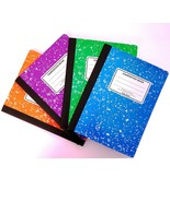 "Composition Notebook Wide Ruled Green Purple Orange Blue (4 Pk) 9-3/4"" x... - $11.28"