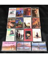 Lot of 15 Cassette Tapes Country Music George Strait Emmylou Harris Exil... - $19.00