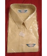 Shirt Mens yellow & White Striped by Luigi Rossi UK XL Collar  - $15.99