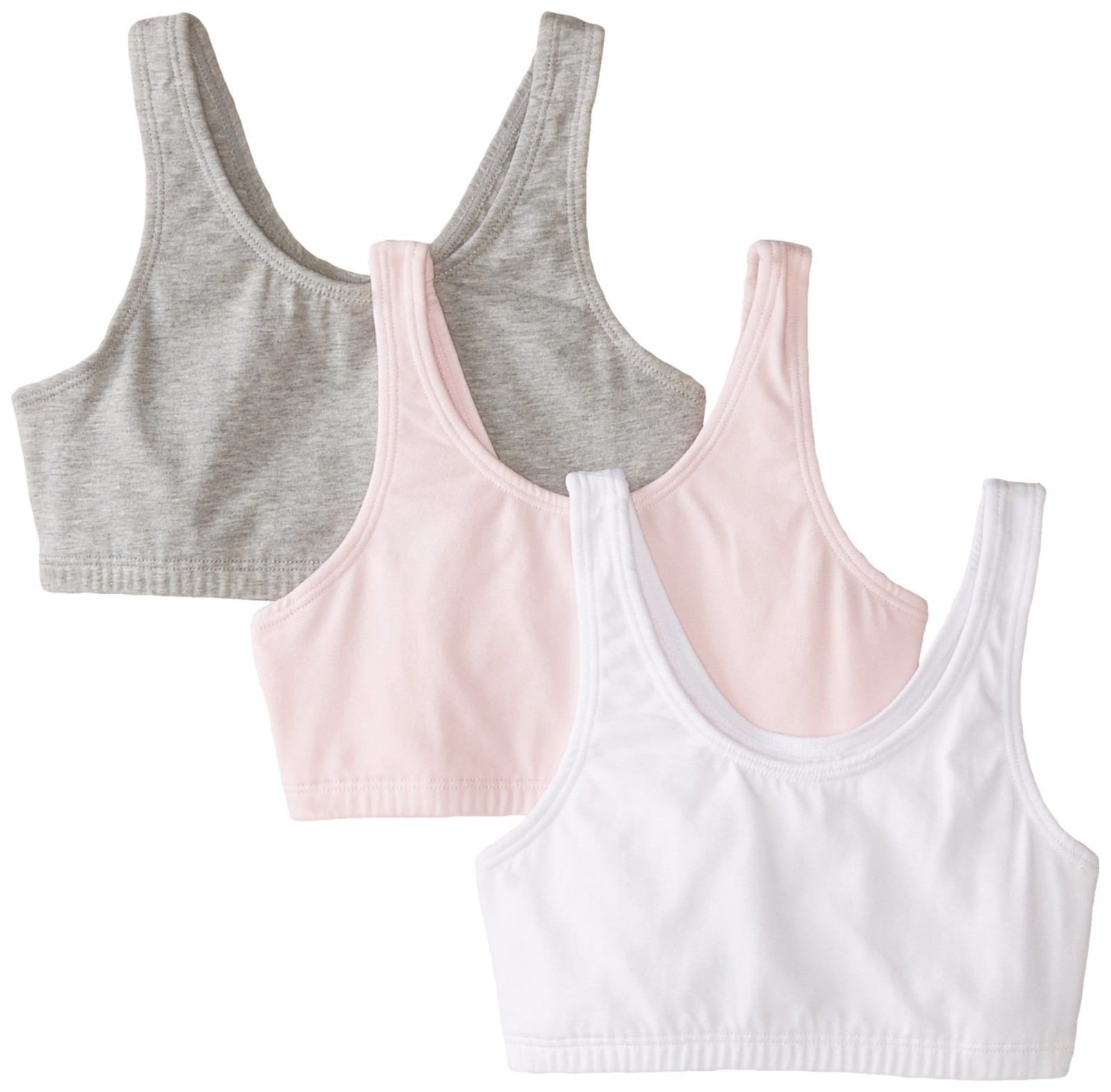 Fruit of the Loom Big Girls Cotton Built-Up Sport Bra