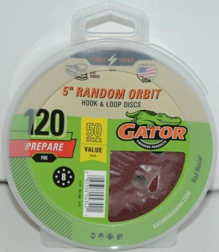 GATOR 4342 Random Orbit Hook Loop 120 Grit Prepare Fine 50 Sanding Discs
