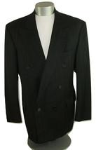 Lorenz Nicola Sport Coat Pinstriped Black Wool Italy Mens Size 42L Blaze... - $44.54