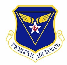 USAF 12th Air Force 12'' Sticker Military  - $24.74