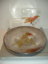 Reed and Barton Audubon Red Shouldered Hawk Damascene Silverware Plate w... - $18.99