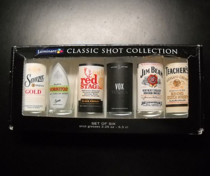Luminarc Classic Shot Glass Collection Set of Six A 2.25 Ounce Size Boxed Set - $15.99